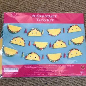NWT paper source Taco Kit